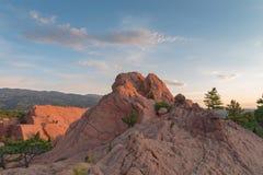 Красный цвет трясет каньон Стоковое Изображение