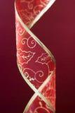 красный цвет украшения рождества полосы Стоковое фото RF