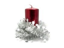 красный цвет украшения рождества свечки Стоковые Изображения RF
