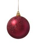 красный цвет украшения рождества шарика Стоковые Изображения RF