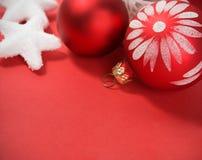 красный цвет украшения рождества Стоковое фото RF