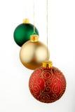 красный цвет украшения рождества Стоковое Изображение RF