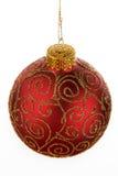 красный цвет украшения рождества Стоковая Фотография RF