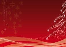 красный цвет украшения рождества иллюстрация вектора