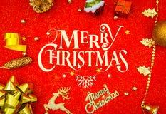 красный цвет украшения рождества предпосылки стоковое изображение
