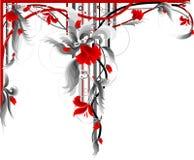 красный цвет украшения флористический Стоковая Фотография RF