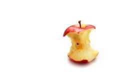 красный цвет укуса яблока стоковая фотография