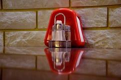 Красный цвет установленный для специй Стоковые Фото