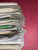красный цвет финансов документов предпосылки Стоковые Изображения RF