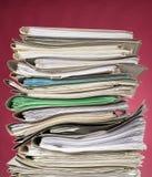 красный цвет финансов документов предпосылки Стоковое Фото