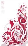 красный цвет флористического орнамента Стоковое Фото