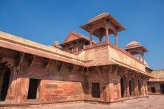 красный цвет форта agra Место всемирного наследия Unesco стоковая фотография rf