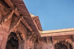 красный цвет форта agra Место всемирного наследия Unesco стоковое изображение