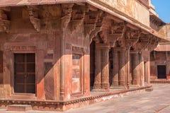 красный цвет форта agra Место всемирного наследия Unesco стоковое фото rf