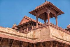 красный цвет форта agra Место всемирного наследия Unesco стоковые фотографии rf