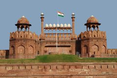 красный цвет форта delhi новый Стоковое Фото