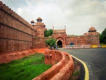 красный цвет форта delhi стоковые фотографии rf