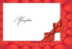 красный цвет фото рамки смычка Стоковая Фотография RF