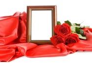 красный цвет фото рамок поднял Стоковые Изображения