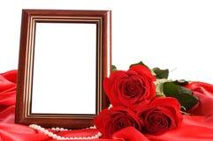 красный цвет фото рамок поднял Стоковые Фотографии RF