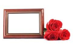 красный цвет фото рамок поднял Стоковая Фотография RF