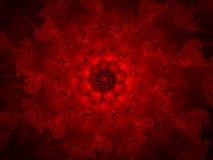 красный цвет фрактали предпосылки Стоковые Фото
