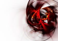 красный цвет фрактали Стоковая Фотография