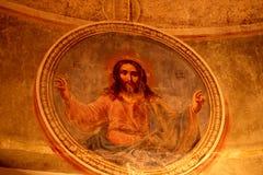 красный цвет фрески Стоковые Изображения RF