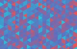 Красный цвет хаоса вектора треугольника предпосылки фиолетовый Стоковые Изображения RF