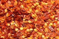 красный цвет хлопь chili Стоковые Фотографии RF