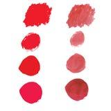 Красный цвет цвета воды для пользы в предпосылке или фон для пользы в человеке Стоковое Фото
