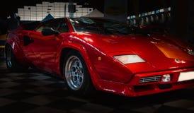 Красный цвет цвета countach 5000 Lamborghini Стоковое Изображение RF