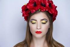 Красный цвет цветет венок Стоковое Фото