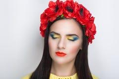 Красный цвет цветет венок Стоковые Фотографии RF