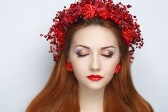 Красный цвет цветет венок Стоковое Изображение RF