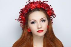 Красный цвет цветет венок Стоковое фото RF