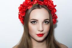 Красный цвет цветет венок Стоковая Фотография