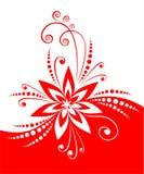 красный цвет цветка декора Стоковое Фото