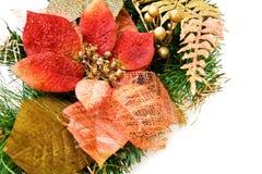 красный цвет цветка украшения рождества стоковое изображение rf