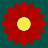 красный цвет цветка иллюстрация штока