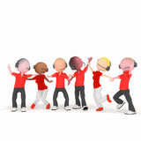 Красный цвет центра телефонного обслуживания bisness оператора Стоковая Фотография RF