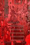 красный цвет цепи доски Стоковая Фотография