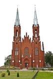 красный цвет церков Стоковая Фотография