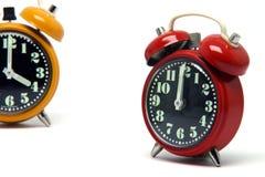 красный цвет часов померанцовый Стоковое Фото