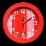 красный цвет часов Стоковая Фотография