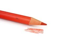 красный цвет части crayon Стоковые Фото