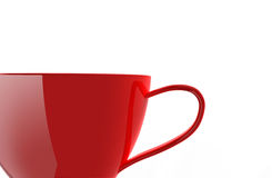 красный цвет чашки крупного плана иллюстрация вектора