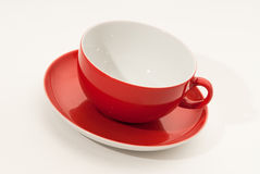 красный цвет чашки Стоковое Фото