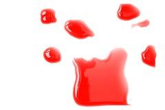 красный цвет чернил Индии помаркой Стоковое фото RF