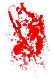 красный цвет чернил падения Стоковое Изображение